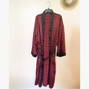 Christian Dior Vintage Plaid Rob & Boxer Set